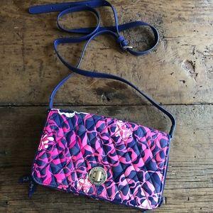 Vera Bradley Turnlock Crossbody Bag Katalina PInk